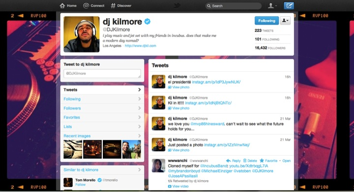 dj kilmore (@DJKilmore) retweeted one of your Tweets!
