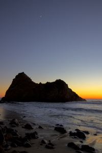 Pfeiffer Beach after sunset, United States