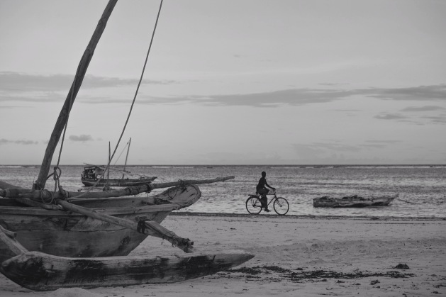 Boy on a bicyle on Matemwe Beach, Zanzibar