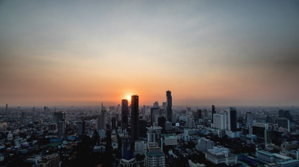 Bangkok sunset, Thailand